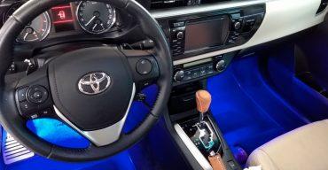 iluminação interna de LED para carros