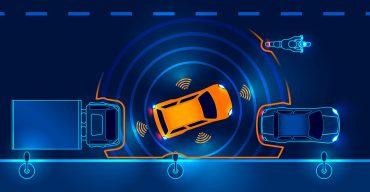 Carros na pista mostram as vantagens do sensor de estacionamento